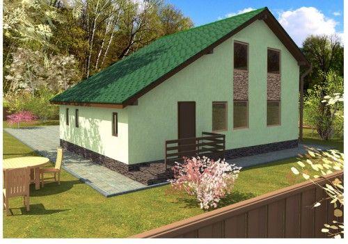 фото сочетания цветов металлочерепицы и стен зданий
